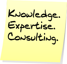 Kowledge, Expertise, Consulting